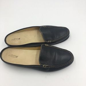 Orvis Leather Slip On Mules Size 10B